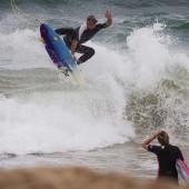 beachbeat surfer josh piper riding the caramel slice surfboard