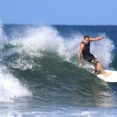 team rider Eric Davies on the ageing rocker beachbeat surfboards model