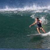 team rider Eric on the ageing rocker beachbeat surfboards model