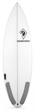 beachbeat surfboards caramel slice performance shortboard, five fin.