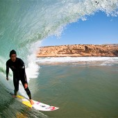 beachbeat surfboards markie at home in a big pit,