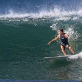 team rider Eric on the ageing rocker beachbeat surfboards model