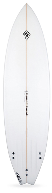beachbeat surfboards fat boy flyer, all round mid length surfboard for intermediate surfers
