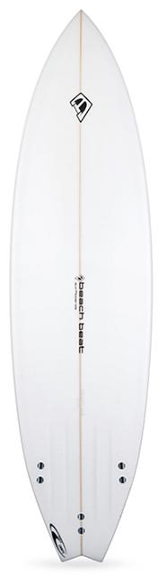 beachbeat surfboards fat boy flyer, all round mid length surfboard for intermediate surfers